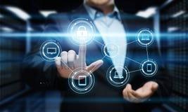 Conceito da privacidade da tecnologia do negócio da proteção de dados da segurança do Cyber Imagens de Stock Royalty Free