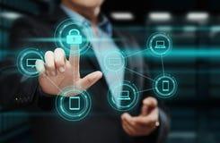 Conceito da privacidade da tecnologia do negócio da proteção de dados da segurança do Cyber Fotografia de Stock Royalty Free