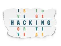 Conceito da privacidade: palavra que corta em resolver palavras cruzadas ilustração royalty free