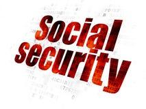 Conceito da privacidade: Segurança social no fundo de Digitas ilustração do vetor