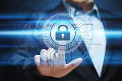 Conceito da privacidade da tecnologia do negócio da proteção de dados da segurança do Cyber Fotografia de Stock