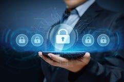 Conceito da privacidade da tecnologia do negócio da proteção de dados da segurança do Cyber Foto de Stock Royalty Free