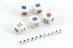 Conceito da probabilidade imagem de stock