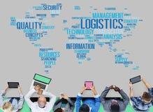 Conceito da produção do serviço de frete da gestão de logística Foto de Stock Royalty Free