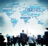 Conceito da produção do serviço de frete da gestão de logística Imagem de Stock