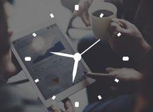 Conceito da programação cronometrando de segundo do minuto da hora do alarme do tempo Foto de Stock Royalty Free