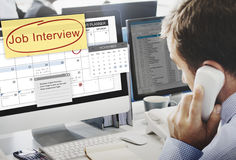 Conceito da programação de Job Interview Recruitment Human Resources imagem de stock royalty free