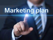 Conceito da promoção da estratégia da propaganda de negócio do plano de marketing imagens de stock royalty free