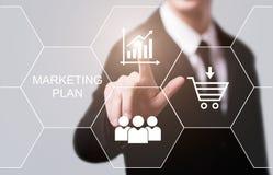Conceito da promoção da estratégia da propaganda de negócio do plano de marketing fotografia de stock royalty free