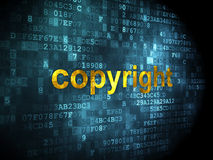 Conceito da propaganda: Copyright no fundo digital Fotografia de Stock Royalty Free