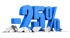 conceito da propaganda da venda e de um disconto de 25 por cento Imagens de Stock