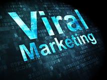 Conceito da propaganda: Mercado viral em digital Imagens de Stock