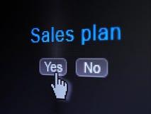 Conceito da propaganda: Plano das vendas em digital Fotografia de Stock