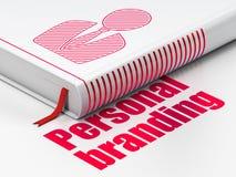 Conceito da propaganda: registre o homem de negócio, marcagem com ferro quente pessoal no fundo branco Fotografia de Stock Royalty Free