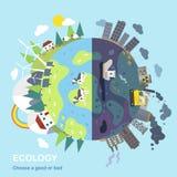 Conceito da proteção ambiental Foto de Stock