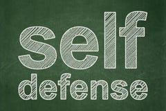 Conceito da proteção: Autodefesa no fundo do quadro Fotografia de Stock Royalty Free