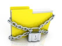 Conceito da proteção de informação Fotografia de Stock