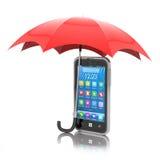 Conceito da proteção de Smartphone Imagem de Stock Royalty Free