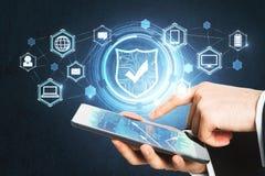 Conceito da proteção do Cyberspace fotografia de stock