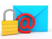 conceito da proteção do email 3d Imagens de Stock Royalty Free