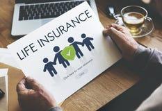Conceito da proteção do reembolso da mistura da cobertura de seguro fotos de stock royalty free