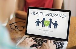 Conceito da proteção do reembolso do seguro da família imagens de stock royalty free
