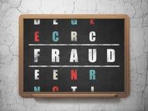 Conceito da proteção: fraude da palavra na resolução ilustração stock