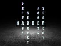 Conceito da proteção: hacker da palavra na resolução ilustração stock