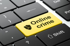 Conceito da proteção: Protetor quebrado e crime em linha Fotografia de Stock