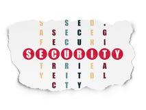 Conceito da proteção: segurança da palavra na resolução ilustração stock