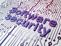Conceito da proteção: Segurança do software no circuito Imagens de Stock Royalty Free