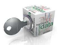 Conceito da protecção de dados Fotografia de Stock Royalty Free