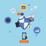 Conceito da protecção de dados Imagens de Stock