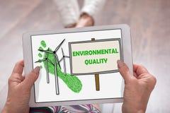 Conceito da qualidade ambiental em uma tabuleta foto de stock royalty free