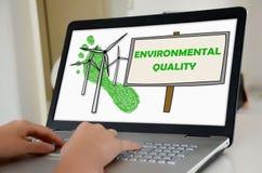 Conceito da qualidade ambiental em uma tela do portátil imagem de stock royalty free