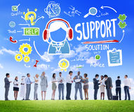 Conceito da qualidade da satisfação do cuidado da ajuda do conselho da solução do apoio Fotos de Stock