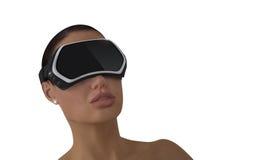 Conceito da realidade virtual Imagem de Stock Royalty Free