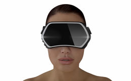 Conceito da realidade virtual Fotografia de Stock
