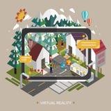 Conceito da realidade virtual Foto de Stock Royalty Free