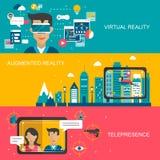 Conceito da realidade virtual Fotos de Stock