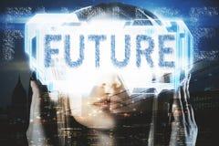 Conceito da realidade virtual e do Cyberspace imagem de stock royalty free