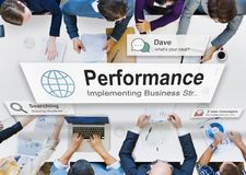 Conceito da realização do desenvolvimento do nível de desempenho imagens de stock royalty free