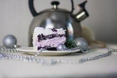 Conceito da receita do bolo Alimento saboroso Cozimento de DIY Alimento do ` s do ano novo imagens de stock