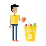 Conceito da reciclagem de resíduos ilustração royalty free