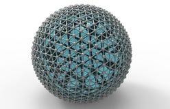 Conceito da rede da esfera ilustração stock
