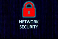 Conceito da rede da segurança do Cyber, segurança da rede Fotografia de Stock Royalty Free