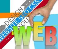 Conceito da rede da Web ilustração stock