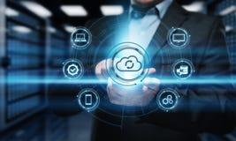 Conceito da rede do armazenamento do Internet da tecnologia informática da nuvem Fotografia de Stock Royalty Free