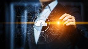 Conceito da rede do armazenamento do Internet da tecnologia informática da nuvem foto de stock royalty free