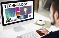 Conceito da rede do Cyberspace da tecnologia imagens de stock